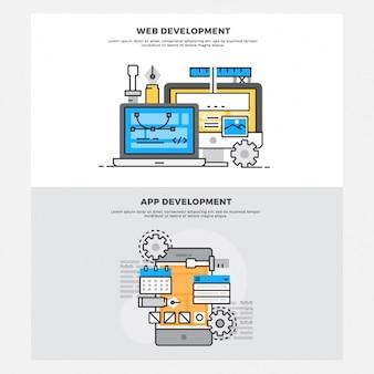 Projetos de desenvolvimento web e de aplicativos