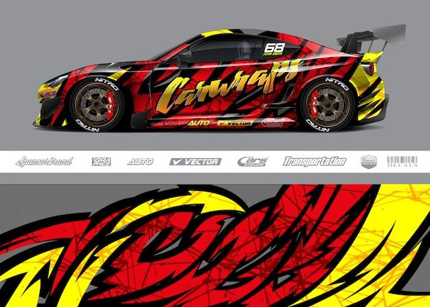 Projetos de envoltório de carro de corrida