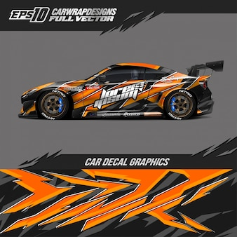 Projetos de envoltório de carro para carro de corrida