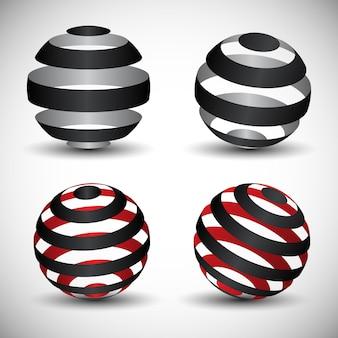 Projetos de logotipo de globo circular