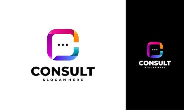Projetos de modelo de logotipo de agência de consultoria moderna