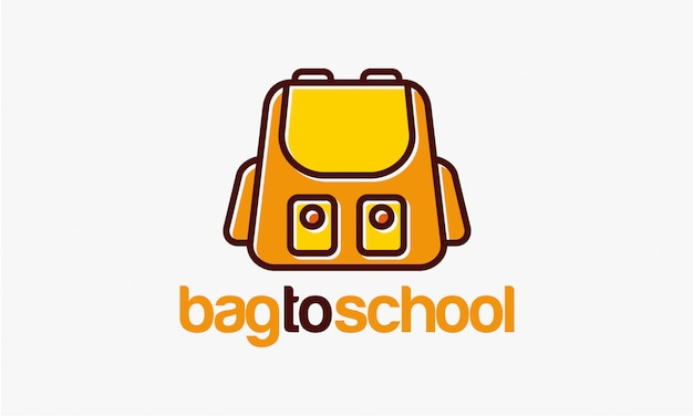 Projetos de modelo de logotipo de saco para escola