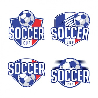 Projetos do molde do logotipo do futebol