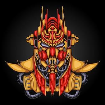 Projetos do robô gundam samurai