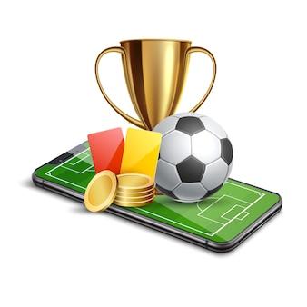 Promo de apostas de cartão de futebol de copo de ouro 3d