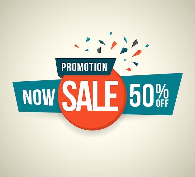 Promoção agora venda 50% de desconto
