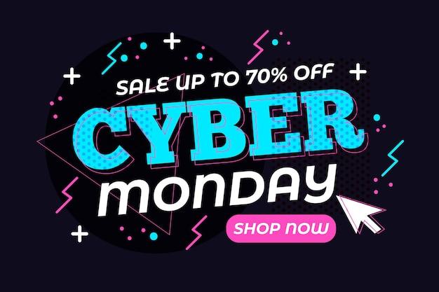 Promoção cibernética de segunda feira plana