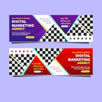 Promoção de agência de marketing digital de banner moderno