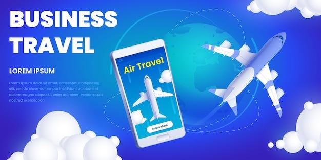 Promoção de aplicativo para viagens de negócios