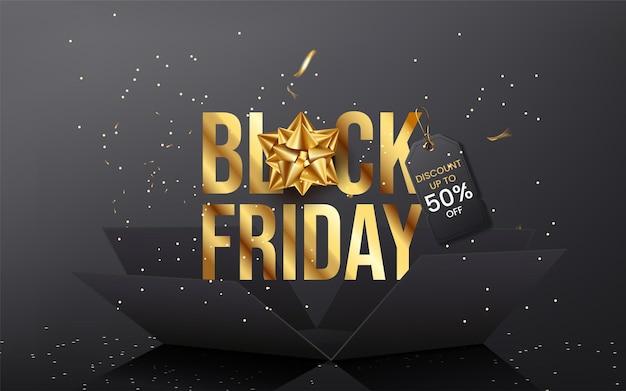 Promoção de banner de super venda black friday
