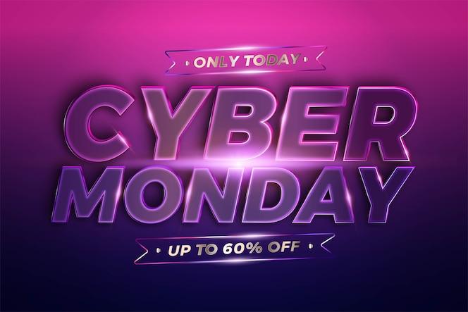 Promoção de banner na moda, cyber segunda-feira.