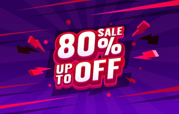 Promoção de banners de venda com até 80 descontos