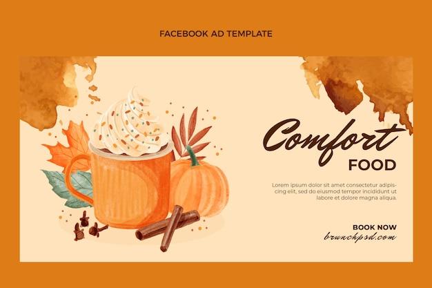 Promoção de comida em aquarela no facebook