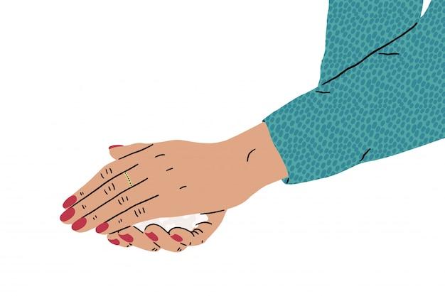 Promoção de higiene. lavar as mãos com sabão para evitar a ilustração de vírus e bactérias.