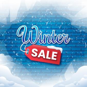 Promoção de inverno em tijolos congelados