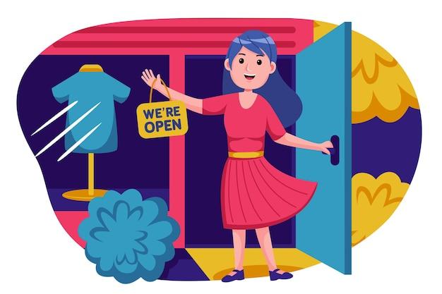 Promoção de jovem abre loja no mercado online