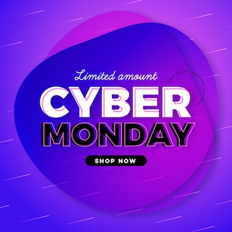 Promoção de liquidação de segunda feira cibernética plana