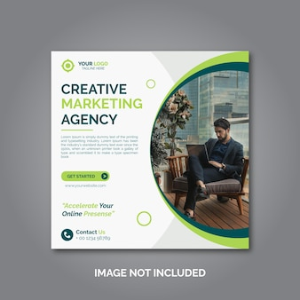 Promoção de marketing de negócios digitais e corporativos no instagram post design ou banner de mídia social