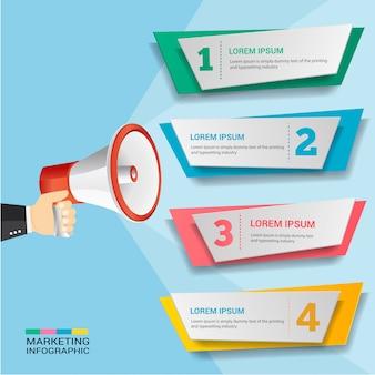 Promoção de marketing infográfico