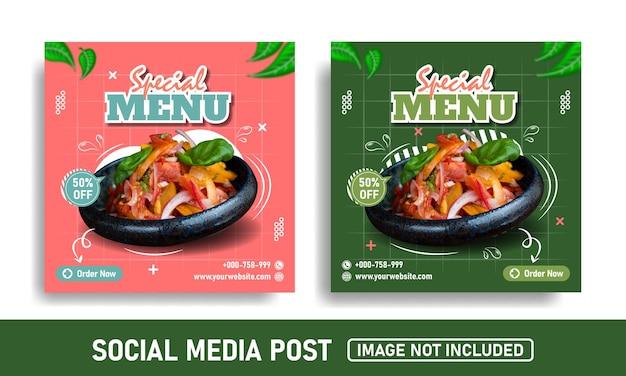 Promoção de mídia social e modelo de design de postagem no instagram