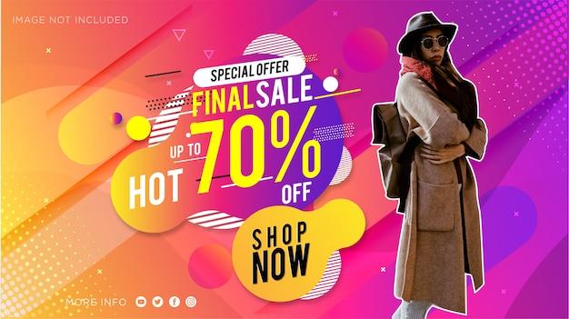 Promoção de moda moderna venda de banner