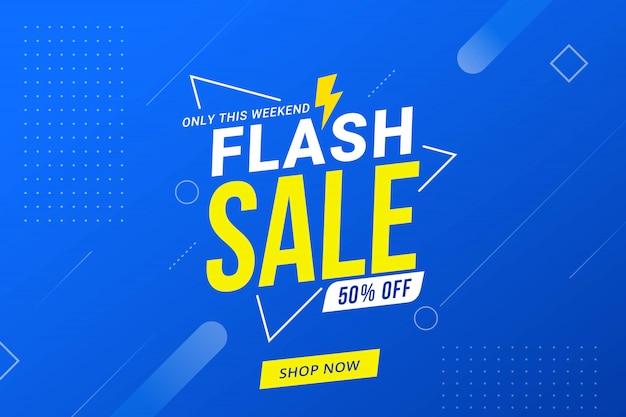 Promoção de modelo de banner de desconto de venda em flash