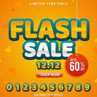 Promoção de modelo de banner de desconto de venda flash