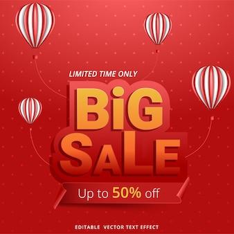 Promoção de modelo de banner de grande venda