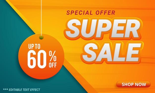 Promoção de modelo de banner de super venda