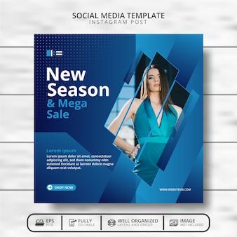 Promoção de modelo de postagem em banner de venda de moda nas mídias sociais