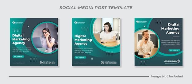 Promoção de negócios e banner de mídia social corporativa