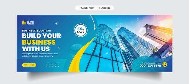 Promoção de negócios e capa do facebook corporativo e modelo de banner