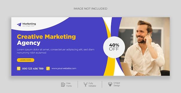 Promoção de negócios e modelo de capa do facebook corporativo grátis