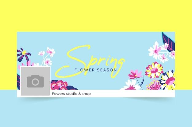 Promoção de primavera capa do facebook