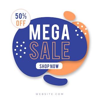 Promoção de rótulo de vendas abstrata