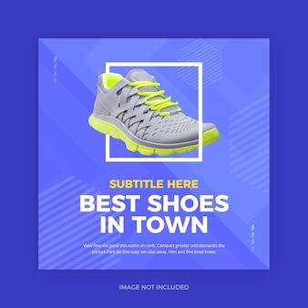 Promoção de sapatos azuis instagram promo social media
