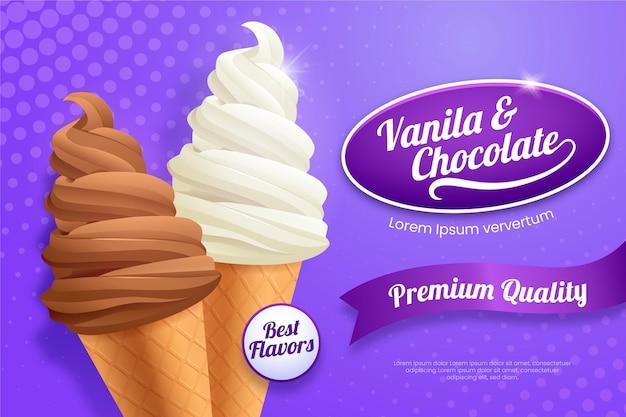 Promoção de sorvete realista