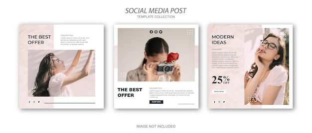 Promoção de venda de moda modelo de mídia social