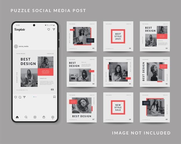 Promoção de venda de moda modelo de postagem em mídia social