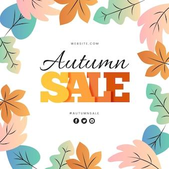 Promoção de venda de outono de design plano