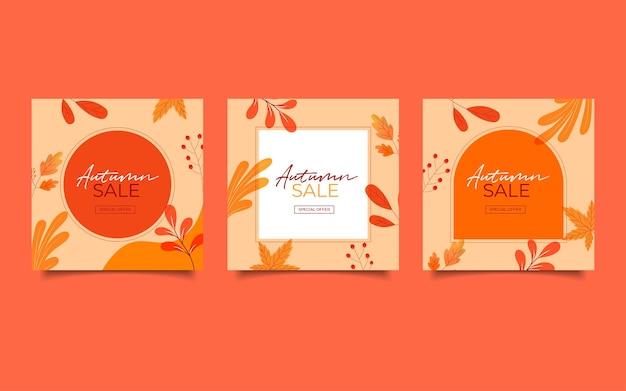 Promoção de venda de outono para postagem no instagram de mídia social