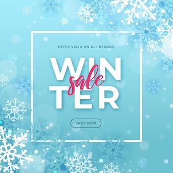 Promoção de venda plana de inverno