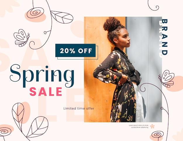 Promoção de venda plana de primavera