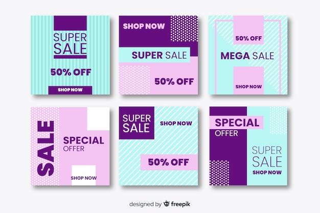 Promoção de venda social media banner pack