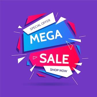 Promoção de vendas abstrata colorida