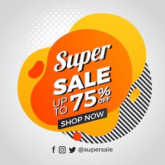 Promoção de vendas abstrata com oferta especial