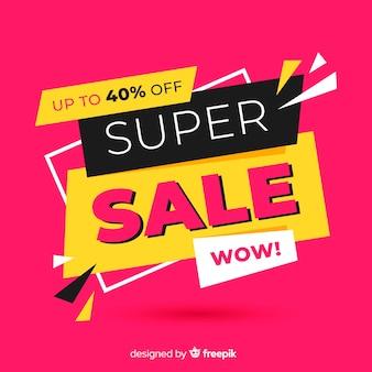 Promoção de vendas em fundo rosa