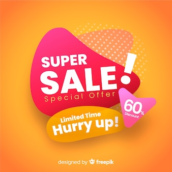 Promoção de vendas super abstrata