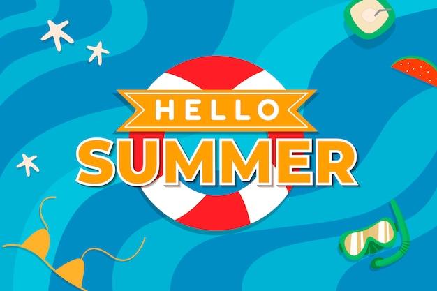 Promoção de verão tropical