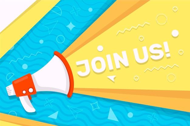Promoção do conceito flat join us